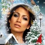 Montaje en un ambiente de navidad