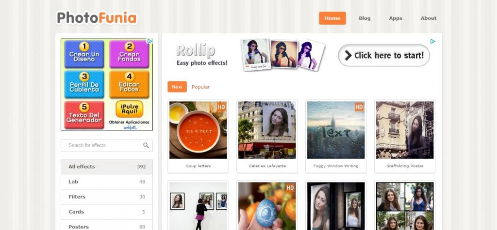 PhotoFunia, el sitio para crear fotomontajes - Editor de Foto