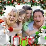 Bonito fotomontaje de Navidad