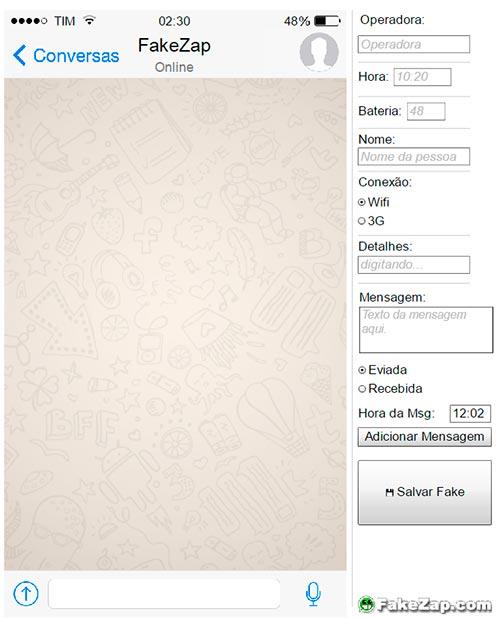 FakeZap - Crear conversaciones falsas en WhatsApp
